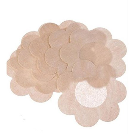 NippleCovers, Sexy Breast Pasties Adhesive Bra Petal Tops Nippleless Cover Disposable (10 Pack)