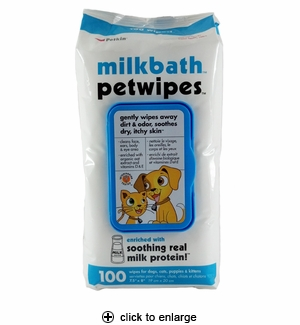 Petkin Milkbath Pet Wipes 100ct