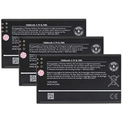 3x Replacement for Nokia BP-4W Battery Fits Lumia 810 Lumia 822