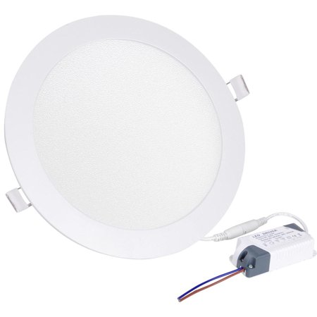 Recessed Fluorescent Light (Yescom LED Recessed Ceiling Round Panel Down Bright Light Downlight White Lamp W/ Driver )