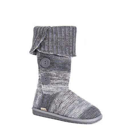 Muk Luks Women'S Knit Bootie Slipper