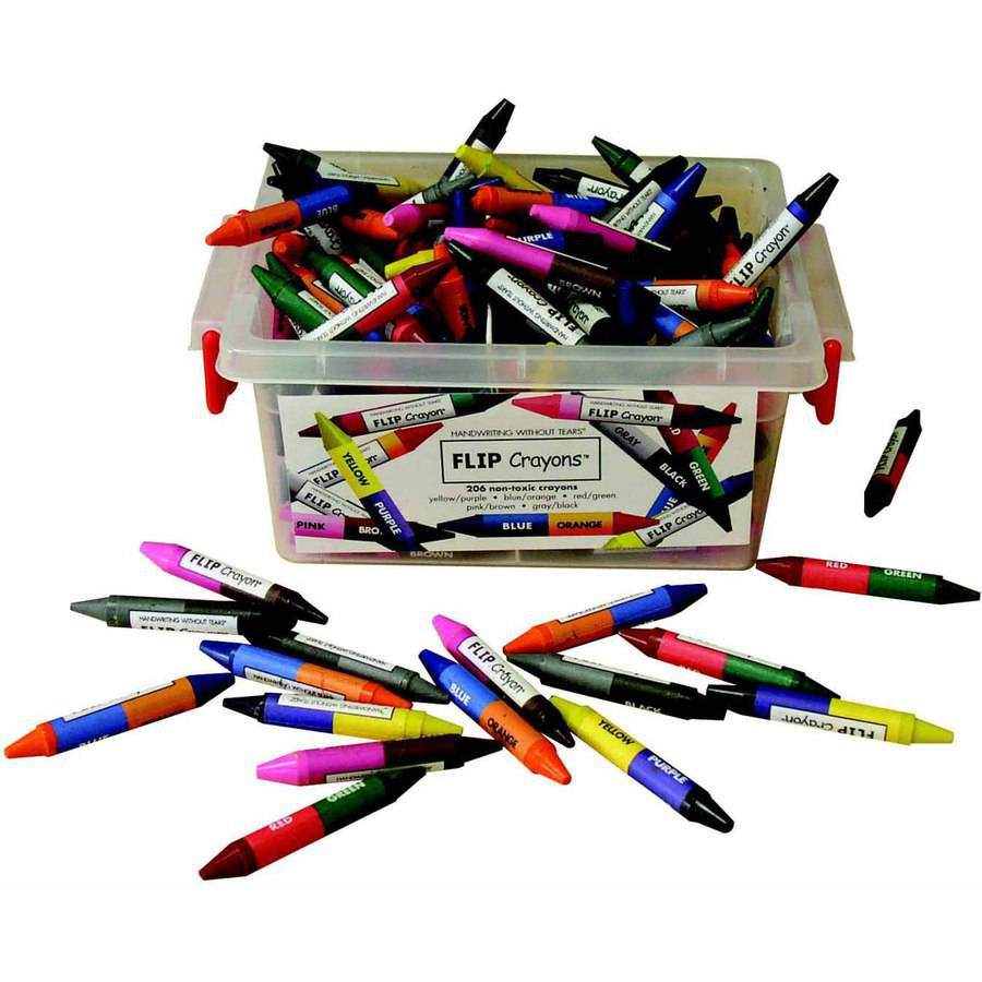 "Handwriting Without Tears Flip Crayon Set, 3.5"" x 0.38"" x 0.38"", Multiple Color, Set of 206"