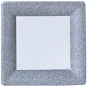 "Lillian Dinnerware Square Paper Plate, 10"", Silver Texture, 24 Ct"