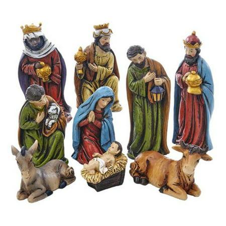 Kurt Adler 5-inch Resin Nativity, 9 Piece Set