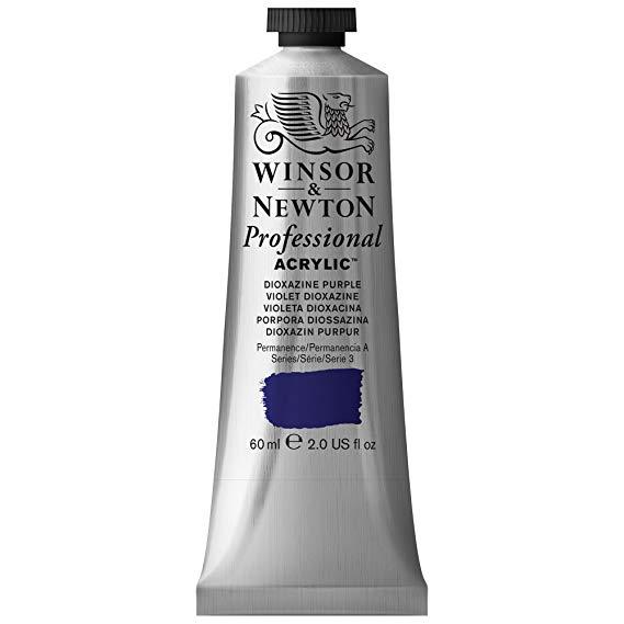 Winsor & Newton - Artists' Acrylic Color - 60ml Tube - Dioxazine Purple