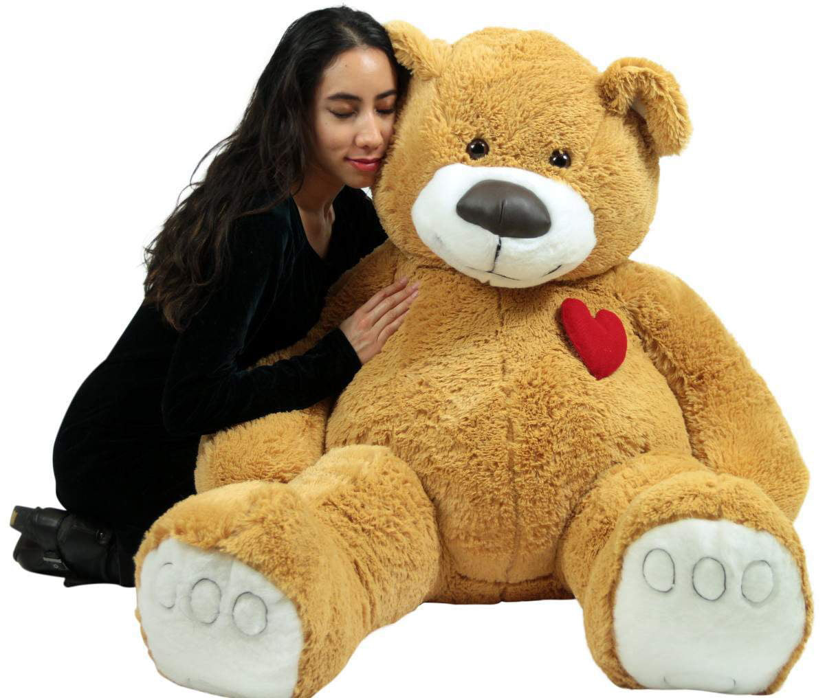 Giant Teddy Bear 57 Inch Soft Huge Plush Animal, Heart on Chest to Express Love by BigPlush