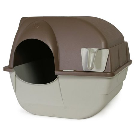 Omega Paw Roll'N Clean Cat Litter Box, Regular](Cat Paws Tattoo)