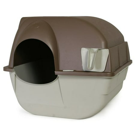 Omega Paw Roll'N Clean Cat Litter Box, Regular