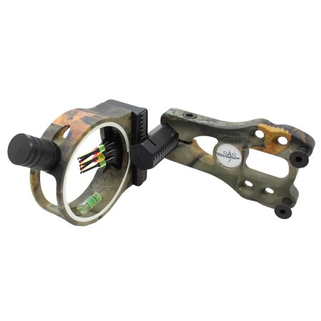 SAS 5-Pin .029 Fiber Optics Archery Bow Sight with LED Sight