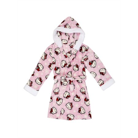 Hello Kitty Girls' Hooded Sleep Robe (Little Girls & Big - Hello Kitty Makeup For Halloween
