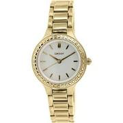 FALL 14 ny2222 Rose Gold Steel Bracelet & Case Mineral Women's Watch