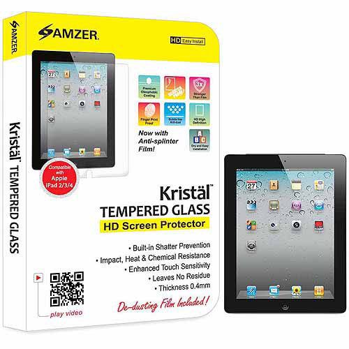 Amzer Kristal Tempered Glass HD Screen Protector Transparent - iPad (AMZ96707) (Amzer)