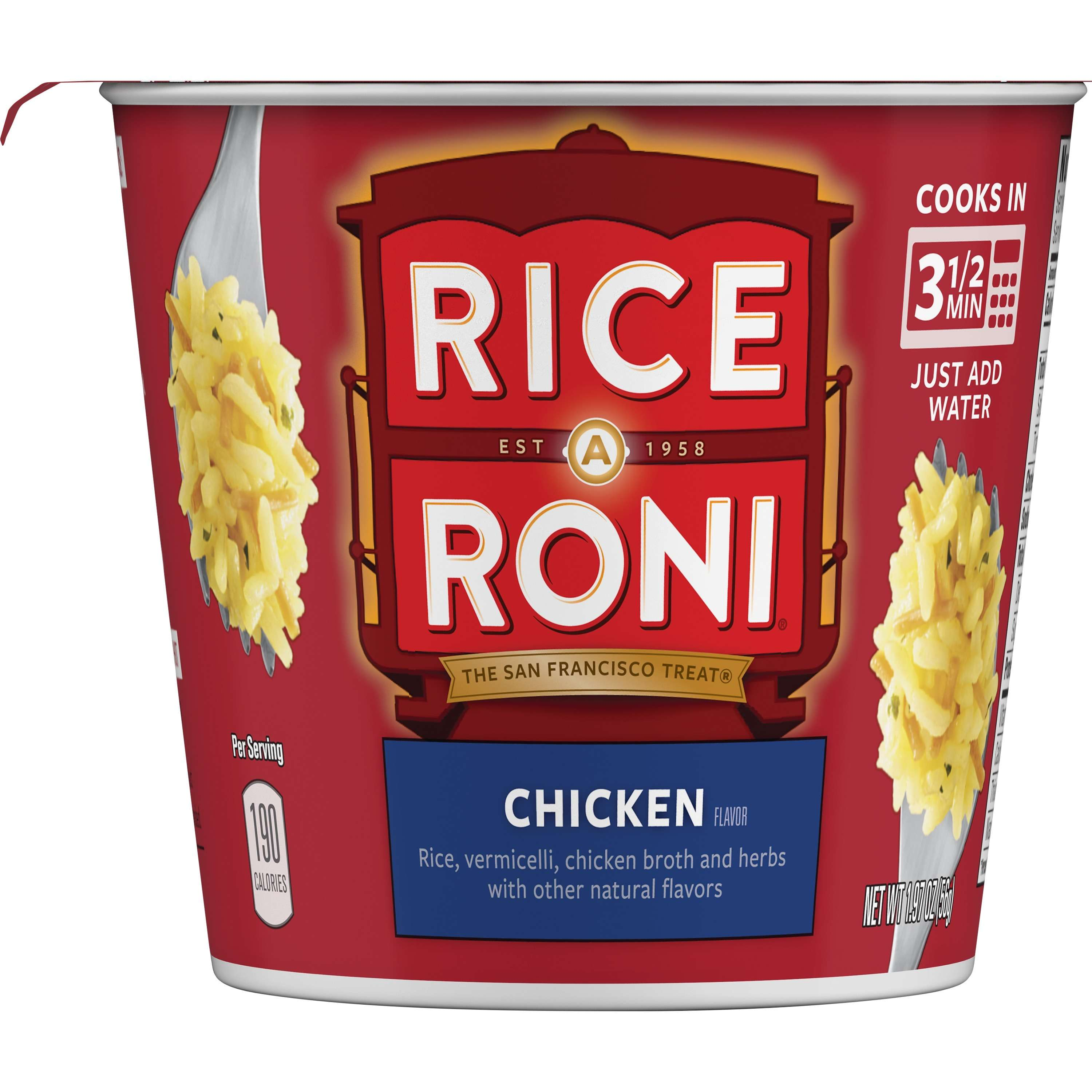 Rice-A-Roni Rice & Vermicelli Mix, Chicken, 1.97 oz Cup