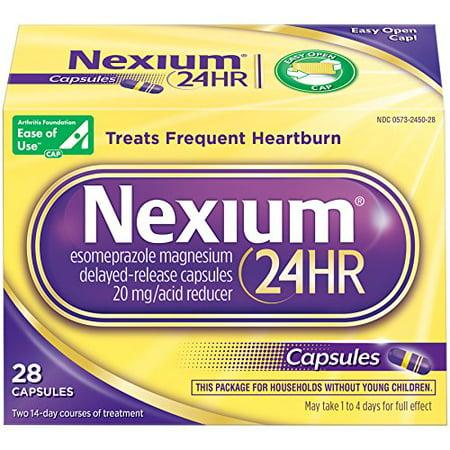 6 Pack Nexium 24HR Delayed-Release Acid Reducer 28 Capsules