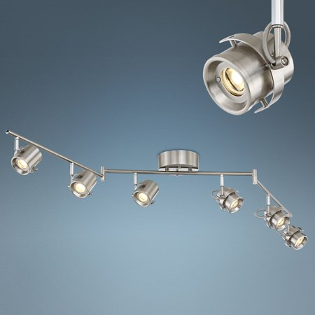 Pro Track Mason 6 Light Satin Nickel Led