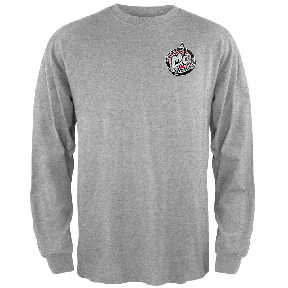 Motorcity Mechanics - Embroidered Logo Grey Sweatshirt