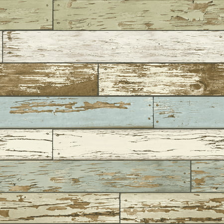 NuWallpaper Old Salem Vintage Wood Peel & Stick Wallpaper Sample (Callo Peel)