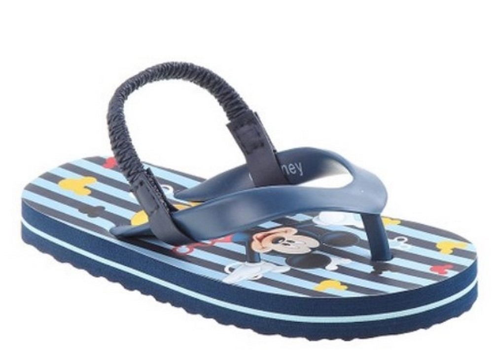 Disney Mickey Mouse Toddler Flip Flop Sandals 5-6 Blue