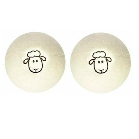 Set of 2 100% New Zealand Wool Dryer Washing Ball (Dryer Sheep)](Wooly Balls)
