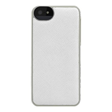 lowest price 00fc8 f2d85 Adopted Leather Cell Phone Case for Apple iPhone 5 5S SE Saffiano  White/Sand APH11244