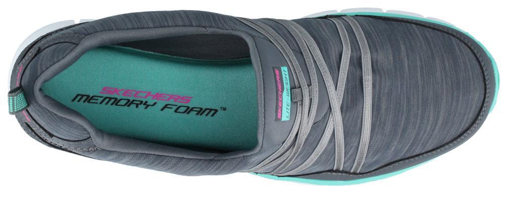 SKECHERS SCENE STEALER 12004CCAQ CHAR/AQUA Economical, stylish, and eye-catching shoes