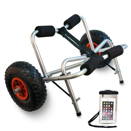 Calhome Boat Kayak Canoe Carrier Transport Trailer Tote Trolley Dolly Wheel w/Free Cell Phone (Canoe Dolly)