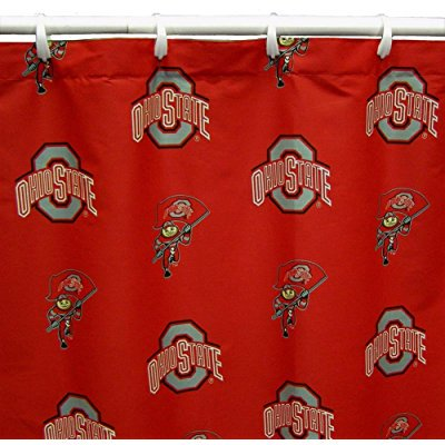 College Covers Ohio State Buckeyes Printed Shower Curtain