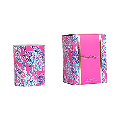 - Lilly Pulitzer 153223 Glass Candle, Samba