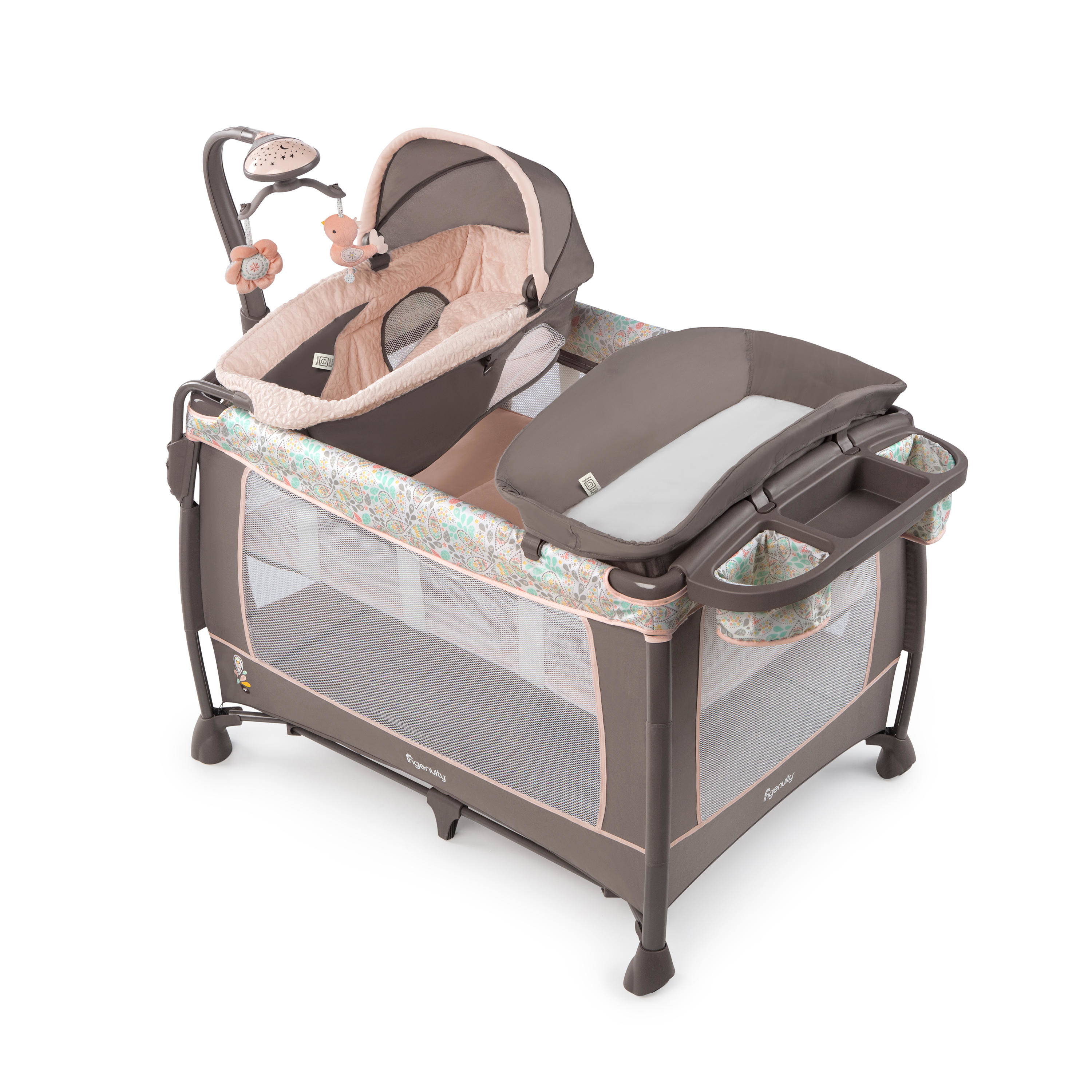 Ingenuity Soothe Me Softly Washable Playard   Piper