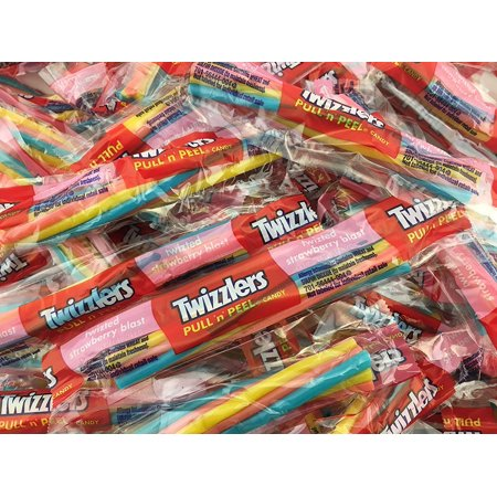 - Twizzlers Twisted Strawberry Blast Candy, Pull N Peel Snack Size (Pack of 2 Pounds)