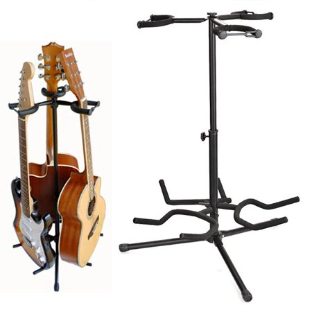 elecmall multi functional guitar stent rack musician gear triple guitar stand. Black Bedroom Furniture Sets. Home Design Ideas