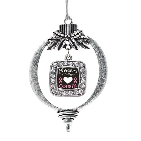 - Forever in my Heart Cousin Breast Cancer Support Classic Holiday Ornament
