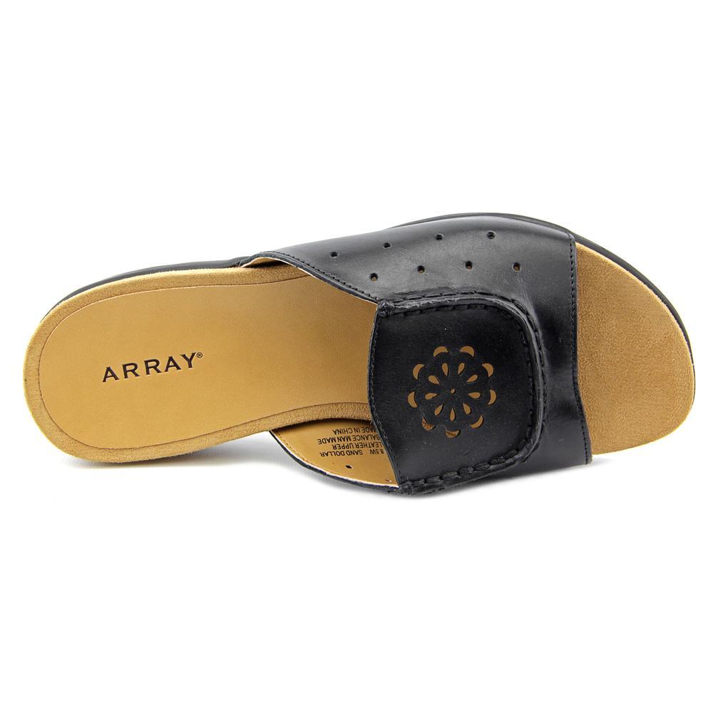 Array Sand Dollar Women N/S Open Toe Leather  Slides Sandal