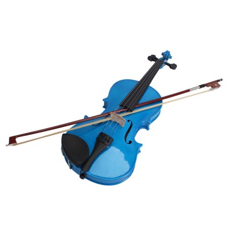 Ktaxon Acoustic Violin 1/4 Size Dark Blue+ Case+ Bow + Rosin for Kids 6-8 Years Old
