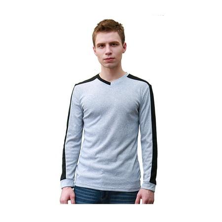 Unique Bargains Men's Color Block Casual Long Sleeves T-Shirt