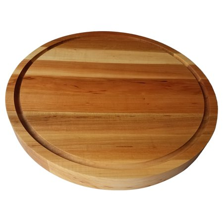 Round Grooved Base (HomeProShops Round Wood Butcher Block Cutting Board - 1-1/2
