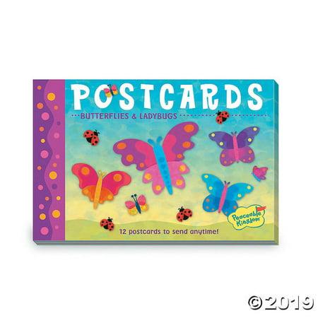 Bug Postcard (Butterflies & Ladybugs Postcards)
