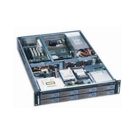 Dynapower Ej 2U6510 C Black Heavy Duty Steel 2U Rackmount Server Case 32 5   Deep Slim Cdrom 1X3 5   Slim Fdd 8Xswappable  Ide Pata Sata Scsi320  2X2 5   4X8cm Heavy Duty Ball Bearing Fans Support Max 1