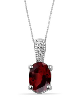 JewelersClub Gemstone and White Diamond Accent Pendant
