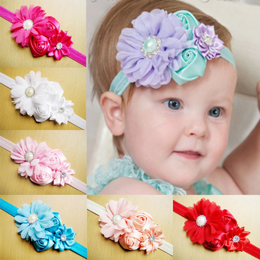Girls Baby Childrn Headband Hair Bow Band Accessories