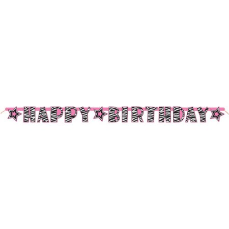 (3 Pack) Zebra Print Birthday Banner