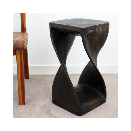 Mocha Twist (Haussmann Twist Stool 12 In Sq X 23 In H Mocha)