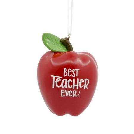 Hallmark Best Teacher Ever Apple Christmas Ornament ...