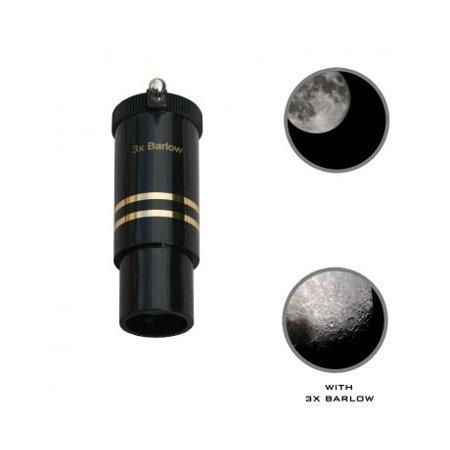 Cassini 3x Barlow Coated Telescope Lens, Black, .965in (Telescope Barlow Lens)