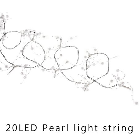 Akoyovwerve Pearl white bead string LED light string Pearl Outdoor Lighting