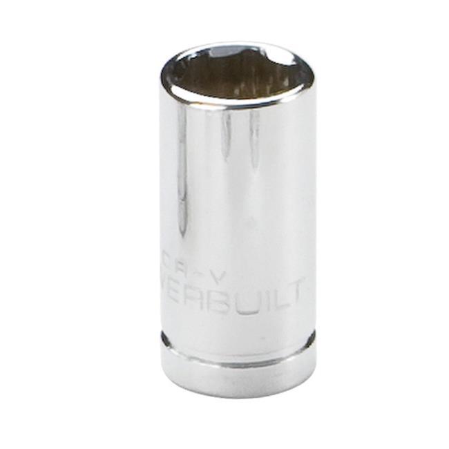 Powerbuilt- 1/4in Drive 6 Pt. Metric Socket 9mm - 648286 - image 1 of 1