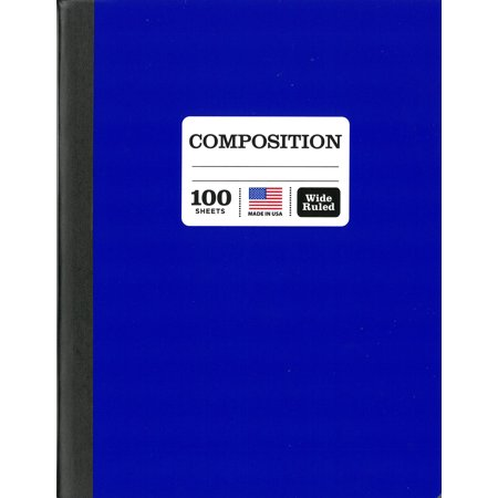 (2 Pack) Colored Marble Composition Book, Wide Ruled, 100 Sheet, Color May - Composition Books Bulk