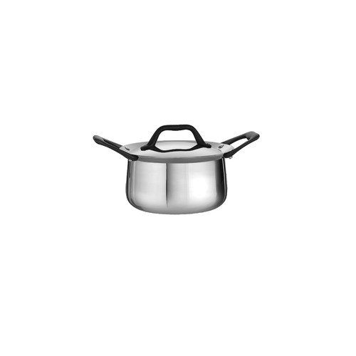 Tramontina Limited Editions Barazzoni 4 Quart Stainless Steel Covered Tri-Ply Clad Sauce Pot