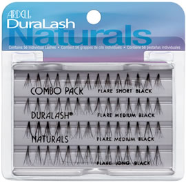 Ardell DuraLash Naturals Knot Free Flare Lashes Combo Black