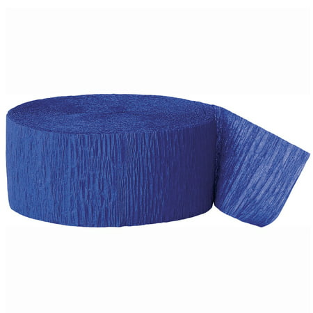 (2 pack) Crepe Paper Streamers, 81 ft, Royal Blue, 1ct - Colourful Streamers